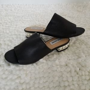 Steve Madden Briele Slides with Pearl Heel